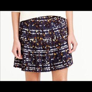 J.Crew Lattice Floral Pleated Skirt